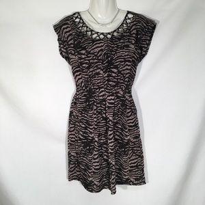 Be Bop Sleeveless Black And Gray Sheath Dress Sz S